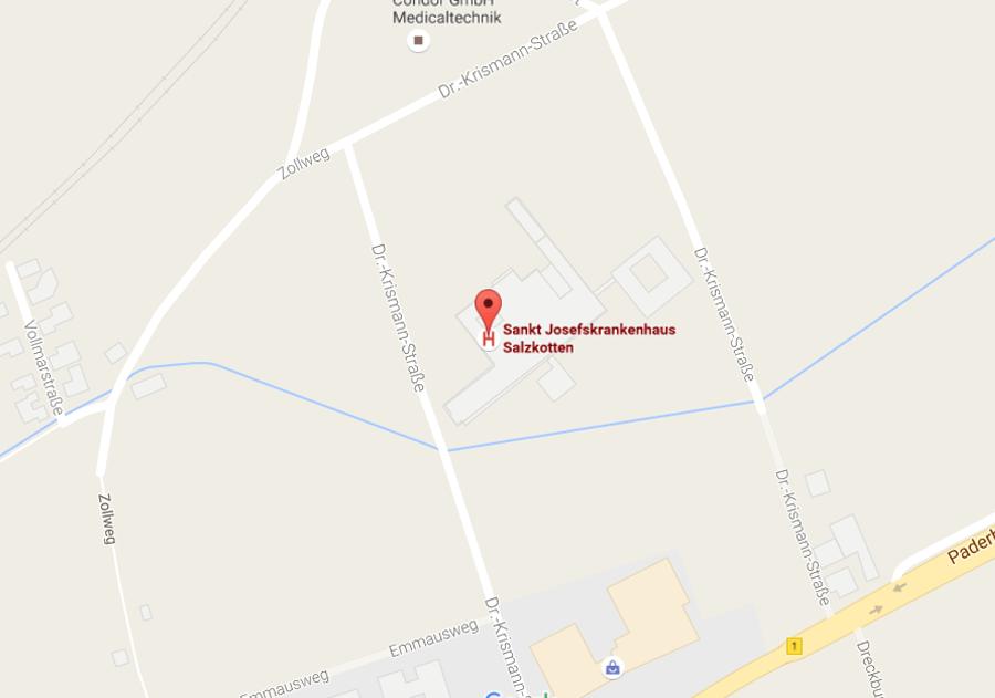 St. Josefs Krankenhaus Salzkotten - Karte