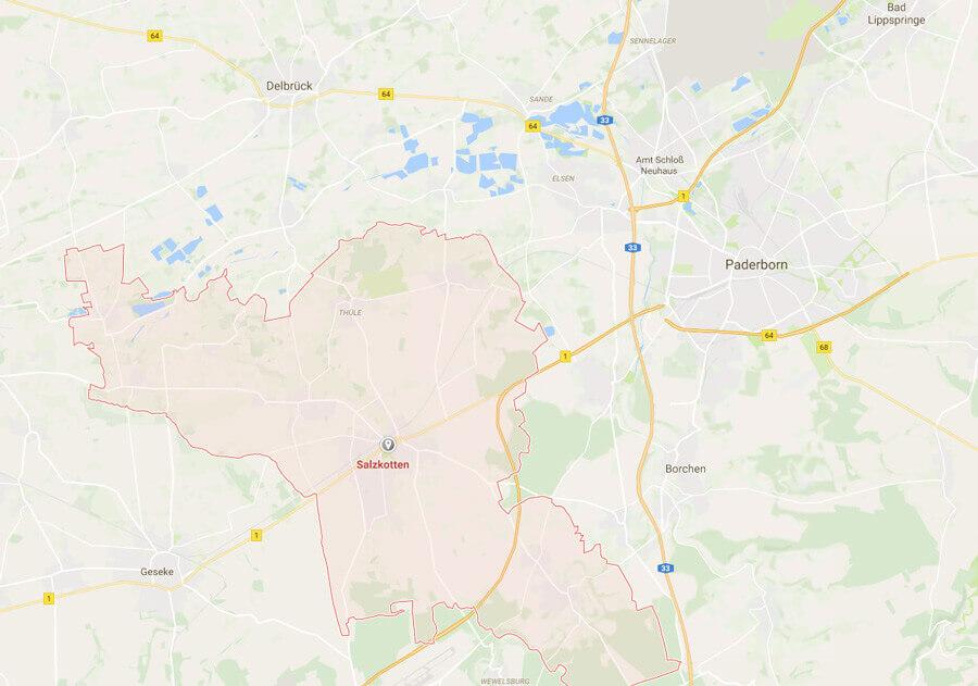 Praxis Salzkotten - Karte
